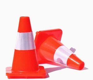 Cone de transito. Mod: PVC, 45 cm. Flexível