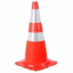 Cone de transito. Mod: PVC, 70 cm. Flexível