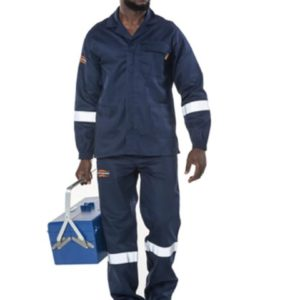 Casaco Dromex Ref/azul, ignífugo r/ácidos ( Oil & Gás)